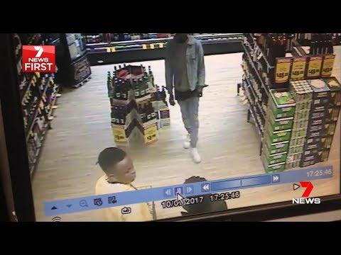 Seven News. Blacks Rob Bottle Shop + IGA. Owner Fights.(Point Cook)