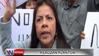 REALIZAN PLANTON EN CONTRA DE UNION CIVIL
