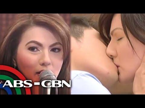 Carmina's experience on sensual kissing scene