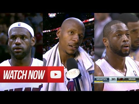 2014.03.21 - Dwyane Wade, Ray Allen & LeBron James Full Combined Highlights vs Grizzlies