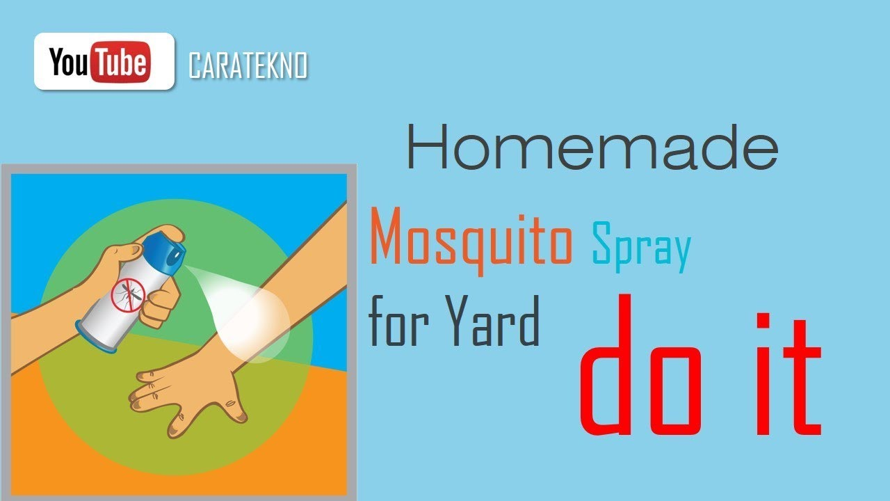 Homemade Mosquito Spray for Yard   DIY Mosquito Repellent