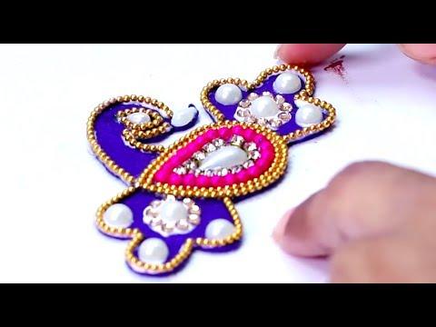 How To Make Designer Peacock Rakhi At Home Raksha Bandhan Craft