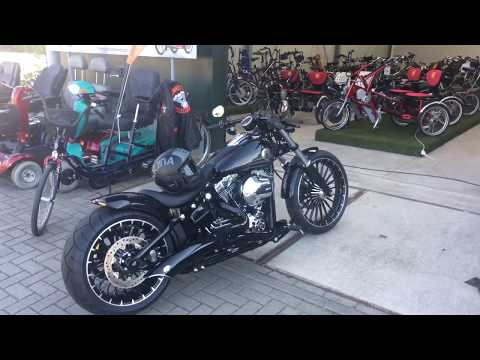 harley davidson fxsb softail breakout (aschwin from holland) - youtube