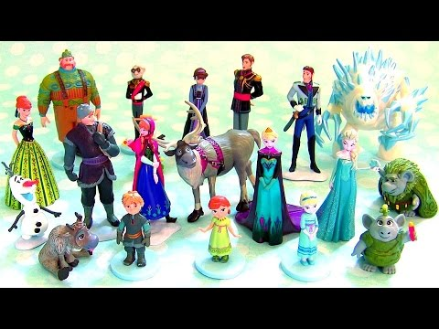 20 Frozen Mega Figures Playset 20 Figurines from The Walt Disney Film Frozen 2015 Anna Elsa Kristoff