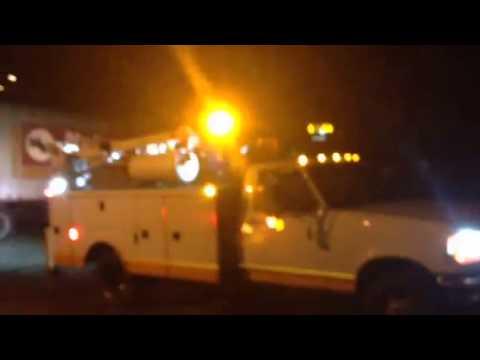 Service truck warning lights