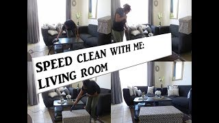 CLEANING AND ORGANIZING! LIVING ROOM CLEAN WITH ME!