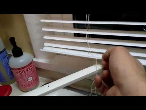 Walmart Mainstays Vinyl Mini Blind Installation Youtube