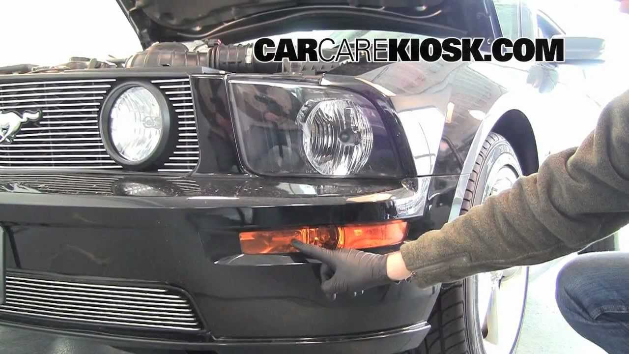 hight resolution of how to change the fog light headlight and turn singals on a 2006 ford mustang youtube