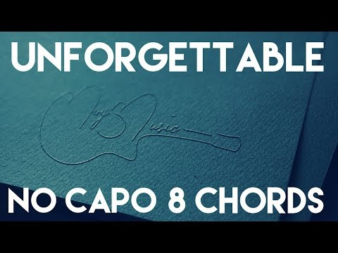How To Play Unforgettable by Thomas Rhett | No Capo (8 Chords) Guitar Lesson