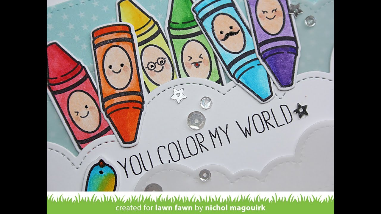 Lovely LAWN FAWN | You Color My World   YouTube Images