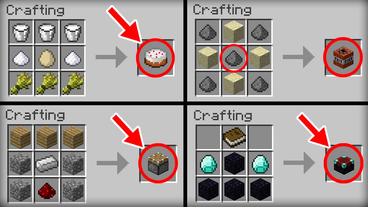 ✔ Minecraft 10 Crafting Recipes We All Forget