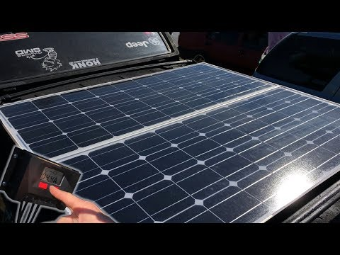 THE FIRST SOLAR POWERED SOUND SYSTEM I'VE EVER SEEN!?