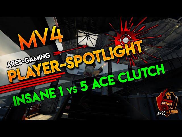 Player-Spotlight: mV4 INSANE 1vs5 ACE CLUTCH  [CS:GO] by Ares-Gaming