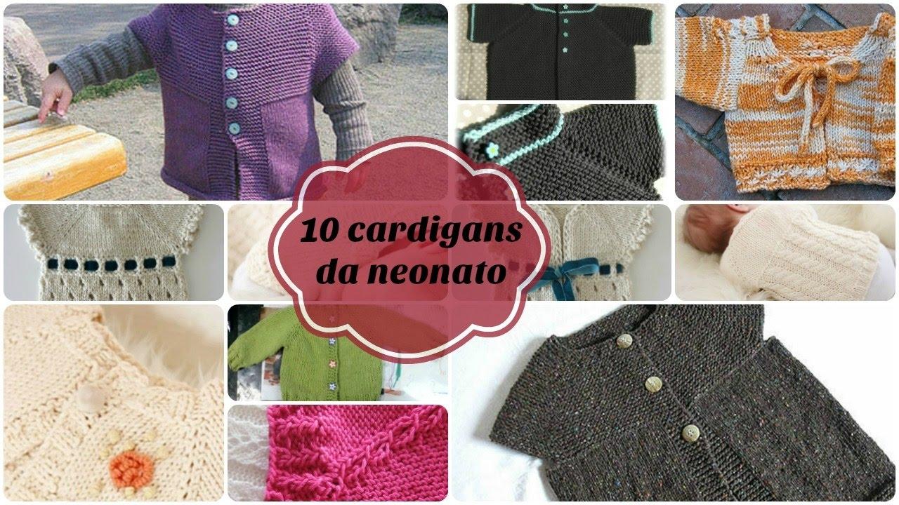 10 Modelli Di Cardigan Da Neonato Youtube