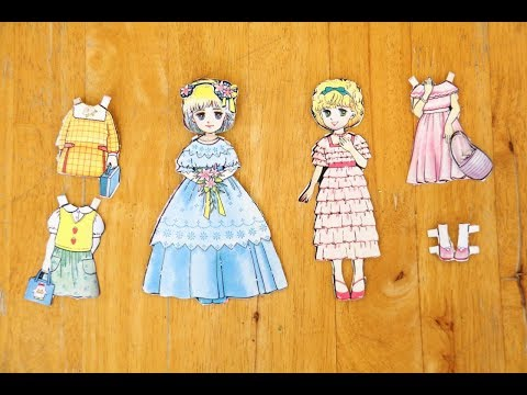 DIY Paper Doll Dressing Up for kid play tutorial