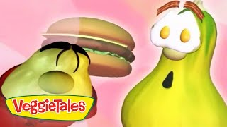 Veggie Tales   His Cheeseburger   Silly Songs With Larry   Kids Cartoon   Videos For Kids