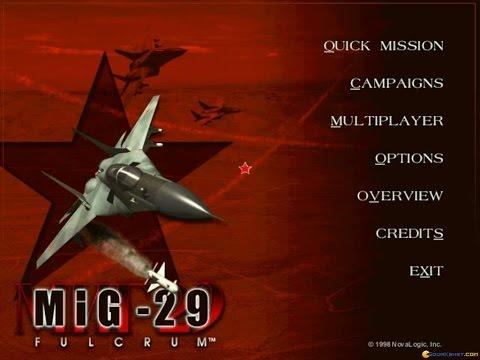 MiG-29 Fulcrum (Novalogic, 1998) gameplay (PC Game, 1998)