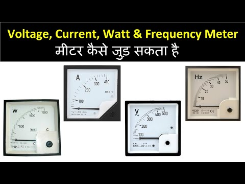 Voltage, Current, Watt and Frequency checking..