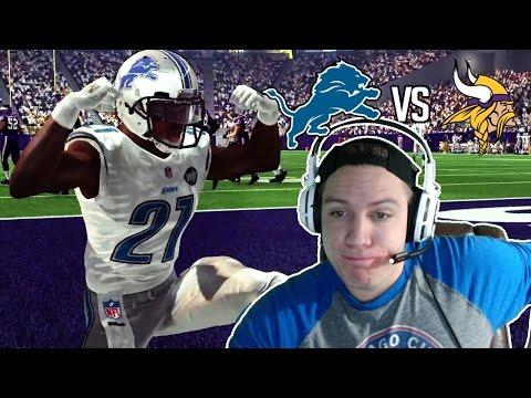 Madden NFL 17 Detroit Lions Franchise- Year 3 Game 8 at Minnesota Vikings