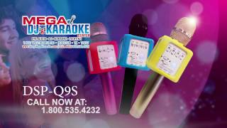 impro ktv q9s wireless karaoke microphone with bluetooth and built in speaker