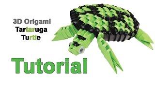 ORIGAMI 3D TURTLE TUTORIAL 1/32 ORIGAMI 3D TARTARUGA TUTORIAL
