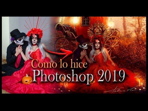 Como lo hice - Tutorial Retoque de Halloween Adobe Photoshop 2019 thumbnail