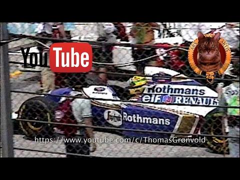 Difundieron imágenes inéditas de Ayrton Senna antes de morir