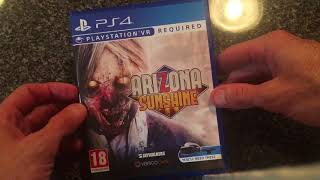 Arizona Sunshine PS4 Unboxing