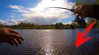 Рыбалка на деревенском пруду на щуку весной!