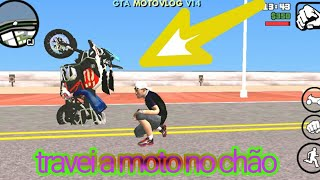 Travei a moto no chão no GTA San Andreas motovlog