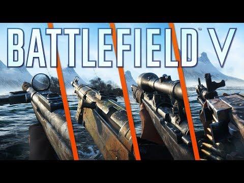 8 WEAPONS & 3 GADGETS SHOWCASE - Battlefield 5