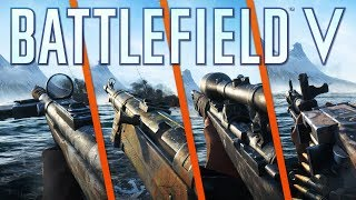 8 WEAPONS & 3 GADGETS SHOWCASE - Battlefield 5