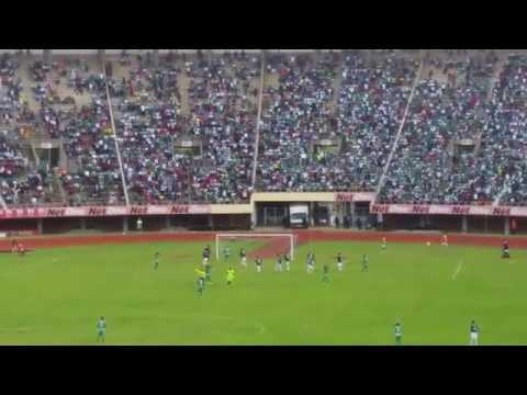 Caps United vs TP Mazembe... Edmore Sibanda Freekick