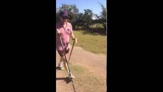 "Mike ""Rooster"" McConaughey uses BungyPump Resistance Walking Poles"