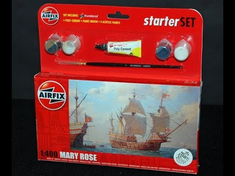 Airfix Mary Rose 1 400th Scale In Box Review