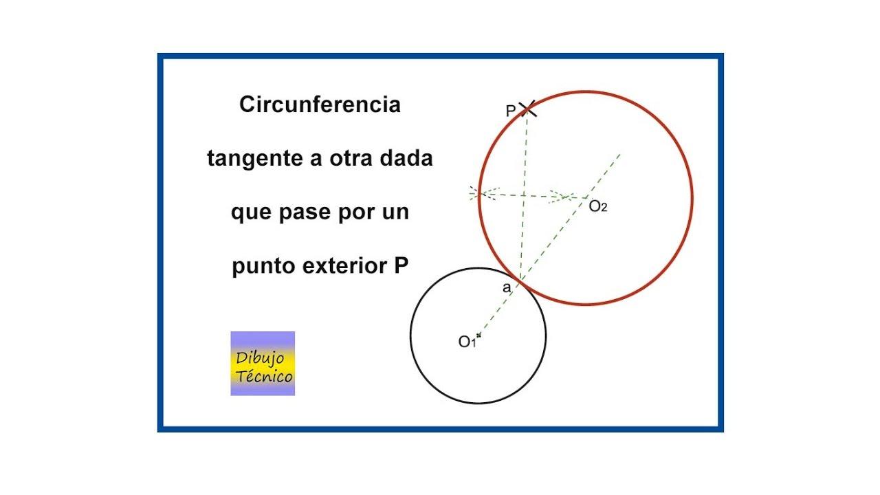 Circunferencia tangente a otra dada que pase por un punto for Exterior tangente y secante