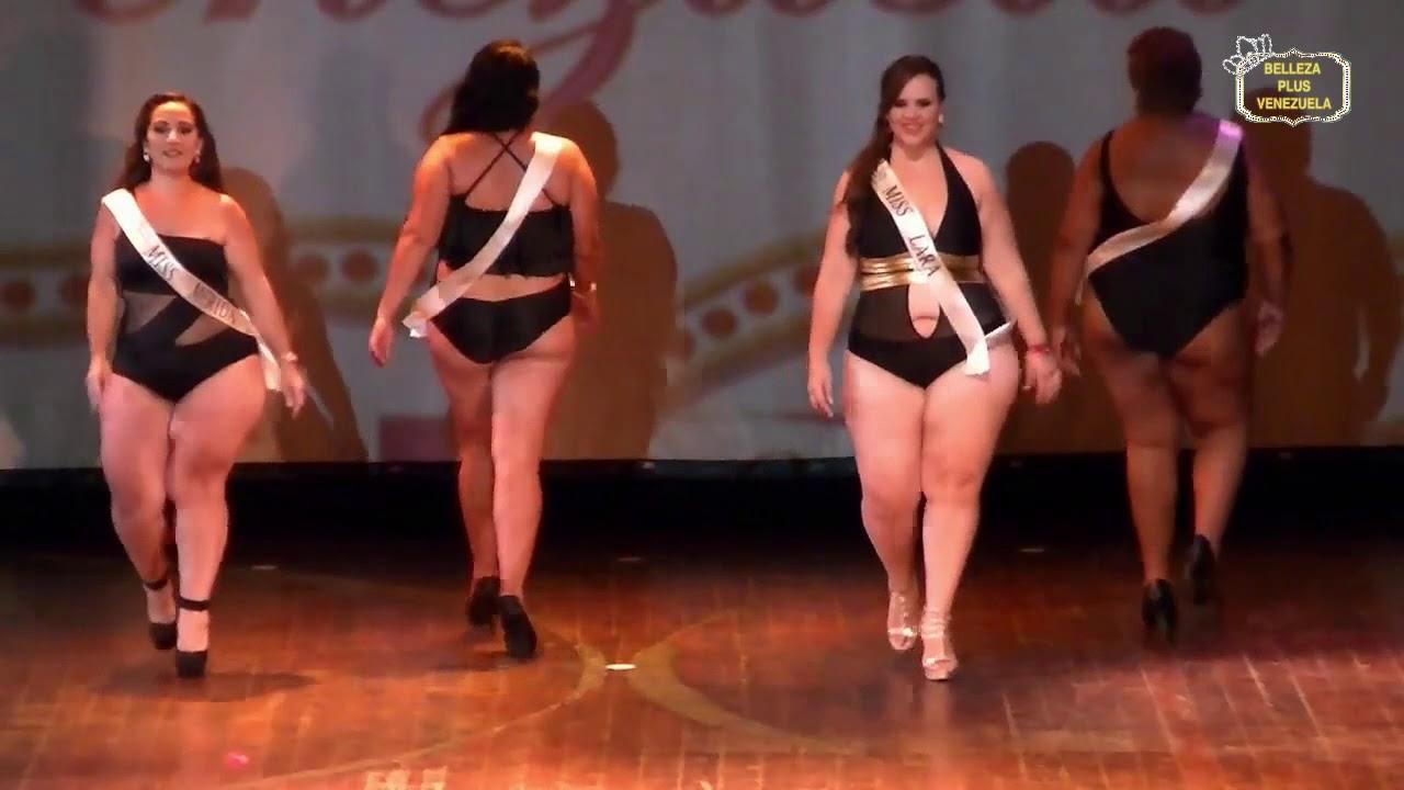 """Mujeres Gordas Bbw belleza plus venezuela 2017. desfile en traje de baÑo grupo de candidatas """"seÑoritas"""""""
