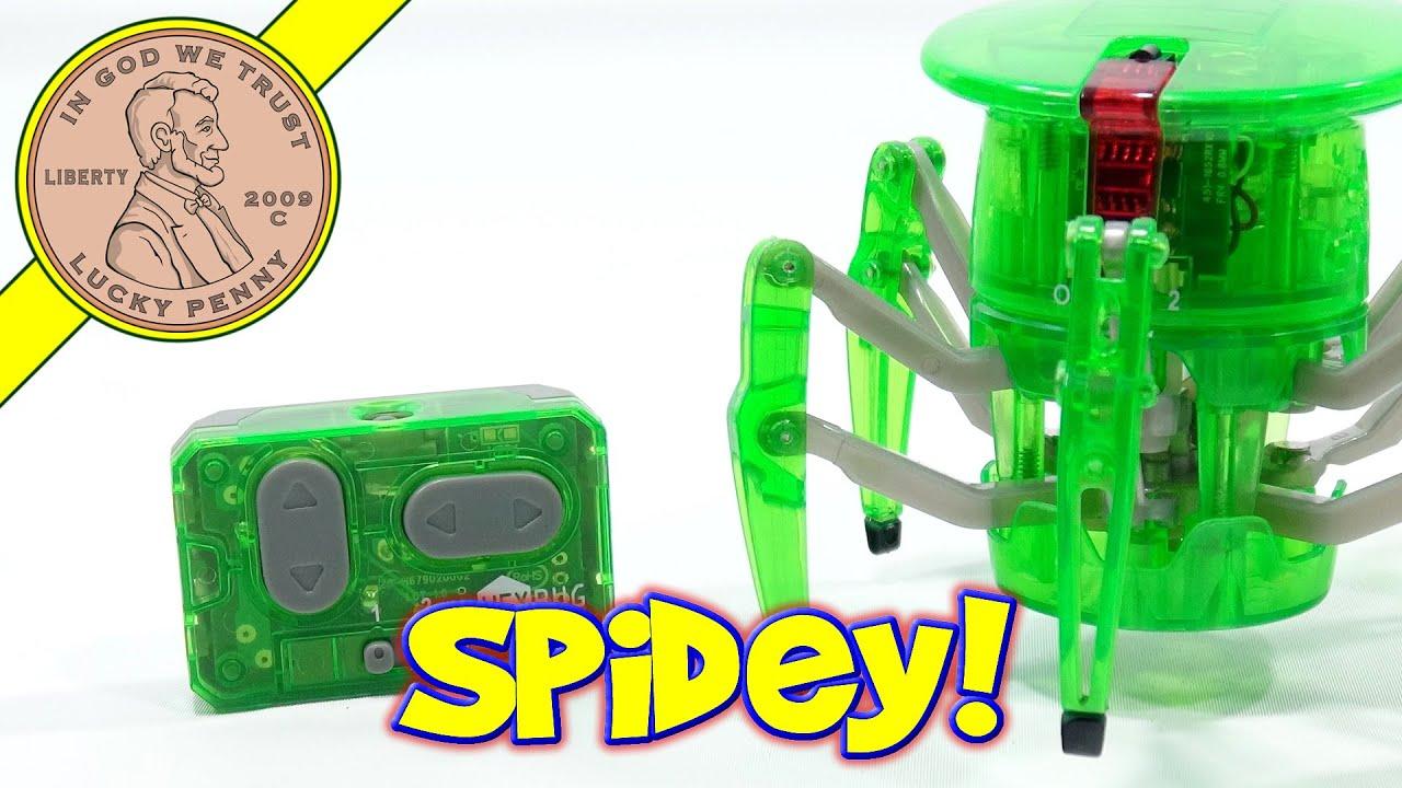 Green HexBug Robotic Spider Creepy Crawler Under My Control
