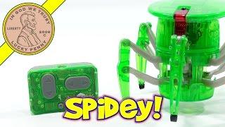 Green HexBug Robotic Spider!  Creepy Crawler Under My Control!