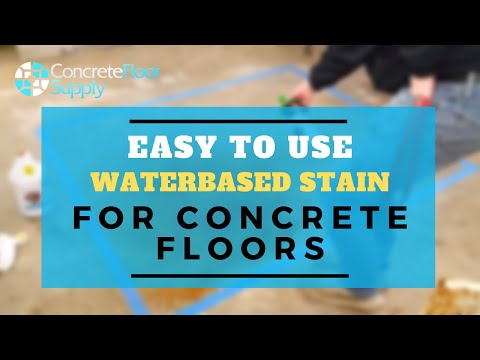 Penetrating water based stain for concrete floors.  Environmental Stain