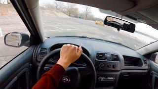 Skoda Fabia  Тест Драйв   Поездка по Киеву   Drive on Kiev   POV   DAS Drive #6