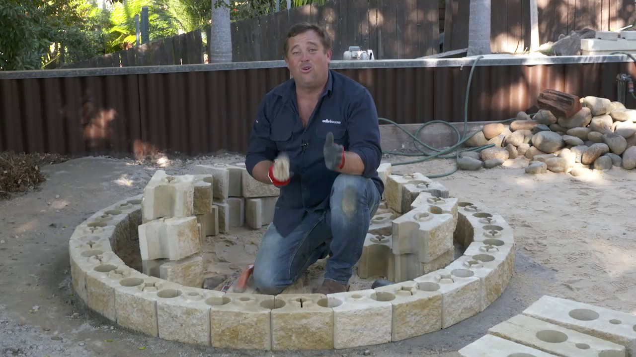 Diy Fire Pit Ab Courtyard By Adbri Masonry Youtube