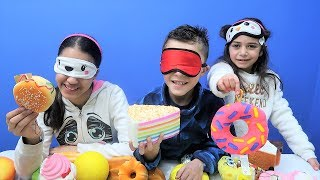 Guess the Squishy Toys challenge with HZHtube Kids Fun!
