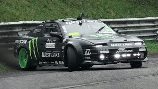 Nissan 200SX S13 Drifting & Lovely Turbo Flutter Sound - Steve Baggsy Biagioni