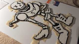 Undertale's Papyrus Sprite Made Out of Perler Beads