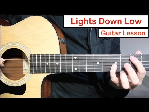 MAX - Lights Down Low | Guitar Lesson (Tutorial) How to play Chords