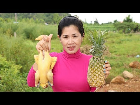 Awesome Cooking Chicken With Pineapple Delicious Recipe – Cook Chicken Recipes -Village Food Factory