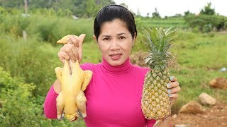 Awesome Cooking Chicken With Pineapple Delicious Recipe - Cook Chicken Recipes -Village Food Factory