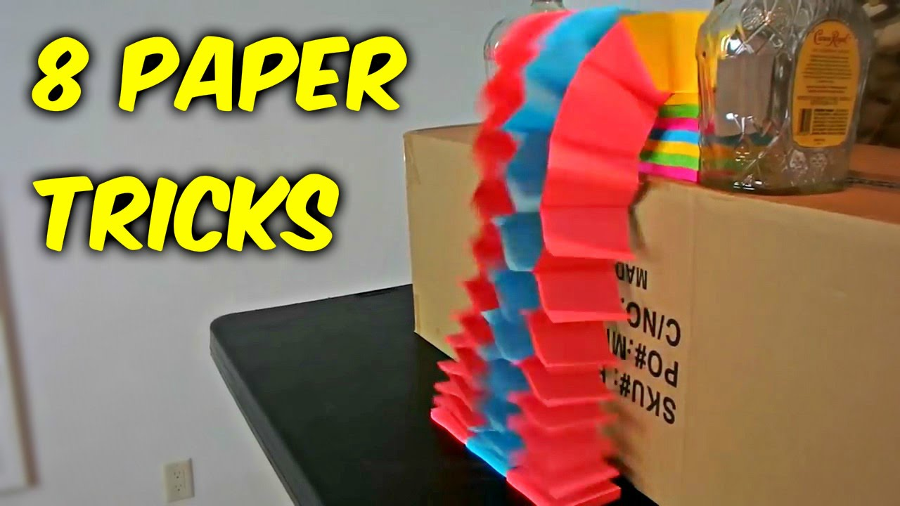 paper tricks A paper trick its simple but takes a lot of free time you can try it at home you can give it to friend in his birthday.