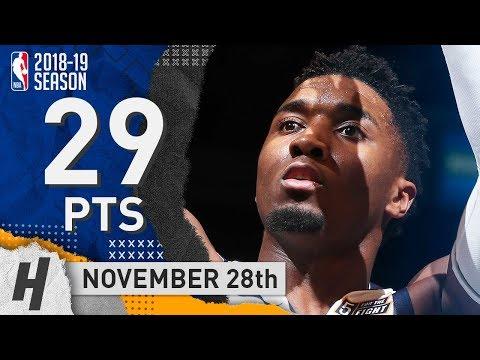 Donovan Mitchell Full Highlights Jazz vs Nets 2018.11.28 - 29 Pts, 5 Reb, 4 Steals!